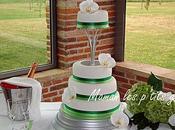 Wedding cake vert blanc