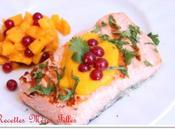 semaine Grillades Barbecue Pavé saumon grillé sauce mangue groseille