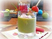 Gaspacho melon concombre mousse chèvre