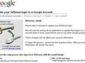 Liez votre compte Adsense identité Google