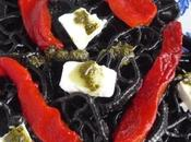 salade pâtes l'encre seiche, poivron, feta coulis menthe