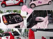 voiture i-MiEV Mitsubishi édition Hello Kitty