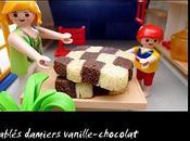 Sablés damiers vanille-chocolat