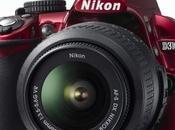 L'appareil photo numérique reflex Nikon D3100 s'habille rouge
