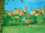 paysages Luberon peints été...