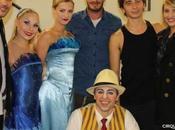 Taylor Lautner David Beckham with Cirque Soleil