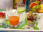 Cocktail énergisant antioxydant, Salade goyave rose, pitaya kiwi