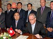 ville chinoise d'Ordos Crans-Montana signent pacte d'amitié