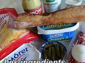 Baguette farcie jambon