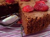 Gâteau chocolat-fraises