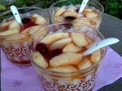 Soupe épicée pommes airelles fraîches
