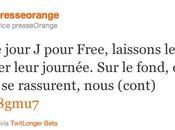 Orange réagit l'arrivée Free Mobile twitter