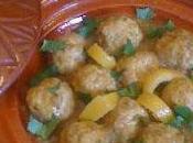 Tajine safrané boulettes poulet