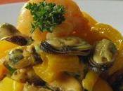 Moules Crevettes sauce Citronnée Gingembre Explosion saveurs
