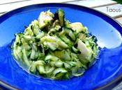 Salade courgettes crues citron vert