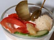 Verrine mousse saumon petits legumes