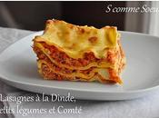 Lasagnes dinde, petits légumes Comté