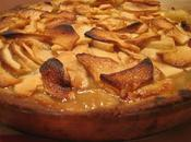 Tarte pommes, cidre glace sirop gingembre croûte amandine