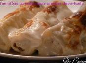 Cannelloni poulet, sauce citronnée, chèvre basilic