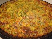Quiche sans pâte saumon légumes/morbier