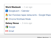 Google Chrome Bêta onglets accessibles partout