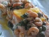 Papillote saumon l'orange crevettes grises