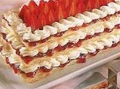 Millefeuille fraises crème
