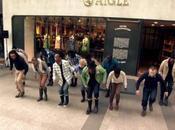 Happening marque Aigle fait buzz Champs-Elysées
