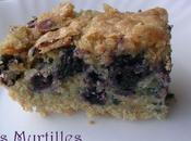 Gâteau myrtilles amande