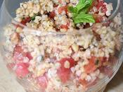 Taboule boulgour tomates herbes