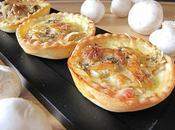 Tartelettes champignons paris lard