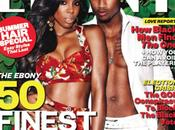 Kelly Rowland Trey Songz posent pour Ebony