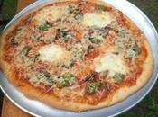 Pizza mozzarella, poivron, persil