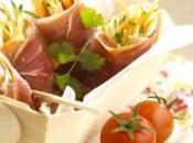 Nems jambon cru, légumes anchoïade