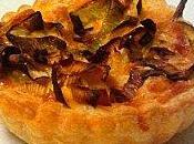 Tartelettes bacon, poireaux comté