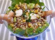Salade crevettes fèves