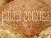 Minis bagels salade jambon hawaïenne