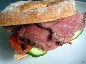 Sandwich roti boeuf barbecue