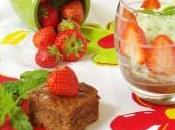 Risotto menthe, fraises Philadelphia Milka