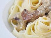 Tagliatelles rognons boeuf sauce moutarde