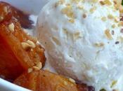 Brugnons rôtis épicés, Chantilly glacée miel fleur d'oranger