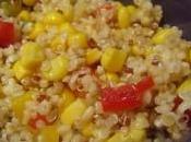 Salade quinoa poivrons, sauce miel