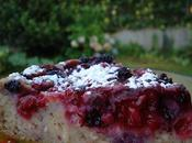 Clafoutis noisettes, lait coco fruits rouges