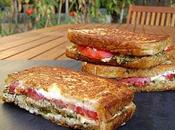 Grilled Cheese Pesto Sauge Tomates