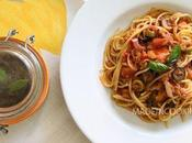Spaghettis sauce tomates tapenade