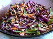 Salade composée colorée noix pécan