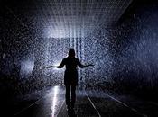 "Dansons sous pluie ""Rain Room"" Random International Barbican Center Londres Installation"