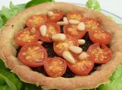 Tartelettes tomates cerises tapenade.