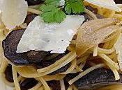 Spaghettis sautés cèpes persillade parmesan