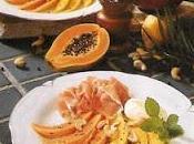 Jambon Parme, mangue papaye